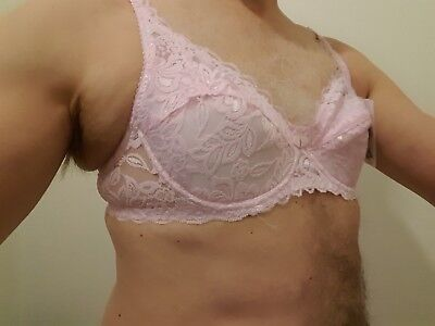 CD/Fetish/male/Female sexy pretty pink bra