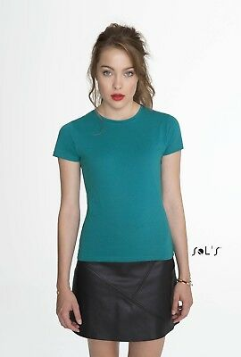 LADIES T-SHIRT (Sol's Short Sleeve Tee) Womens Miss Lady Fit TEE - 24 Colours