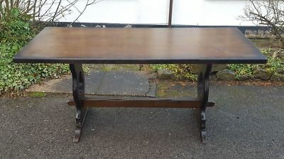 A Vintage Style Oak Refectory Type Dining Table Shabby Chic/Upcycle Project