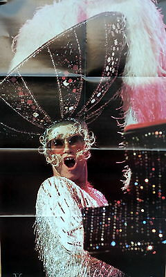 """Elton John 36"""" x 22.5"""" poster by Rock Superstars from 1975 new old stock / Mint"""