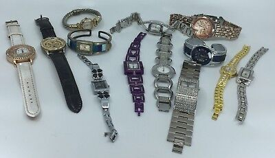 Bulk Lot 13 Working Fashion Watches Resell/Add To Collection Avon+Others