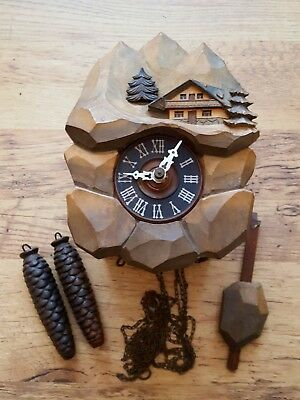ANTIQUE BLACK FOREST CUCKOO CLOCK a/f