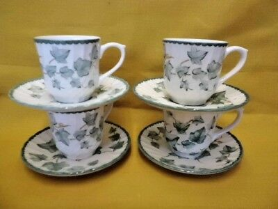 4 x BHS Country Vine Cups and Saucers