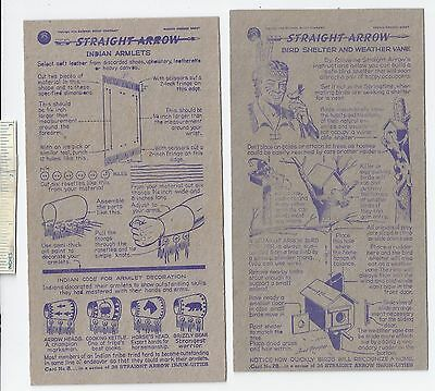 #47 Lot of 6 Diff 1950 NABISCO INJUN-UITY Cards Book #2 Cereal Straight Arrow