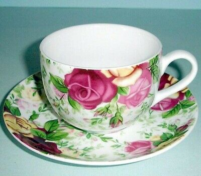 Royal Albert COUNTRY ROSE CHINTZ Tea Cup & Saucer New