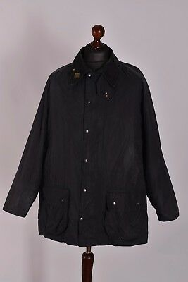 Men's Barbour Beaufort Navy Jacket Size C46 / 117cm Genuine Casual Waxed