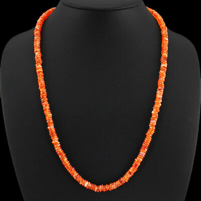 Top 155.00 Cts Natural Untreated Orange Carnelian Beads Necklace Gemstone