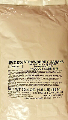 Boyds Strawberry Banana Frozen Drink Mix  1.9 LBS - Free Shipping