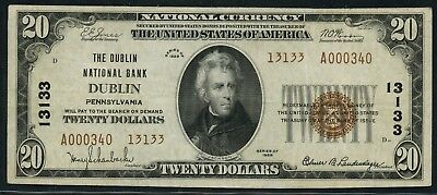 Fr1802-2 Ch #13133 $20 1929 National Dublin, Pa (Only 2 Known) Rare Hw3630