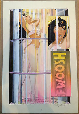 Jim Silke - Original Art Bettie Page Queen of the Nile #1 Splash Page 7 Betty