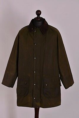 Men's Barbour Gamefair Green Waxed Jacket Size C42 / 107cm Genuine Casual