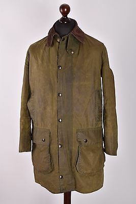Men's Barbour Border Jacket Size C38 / 97cm Genuine Casual Waxed
