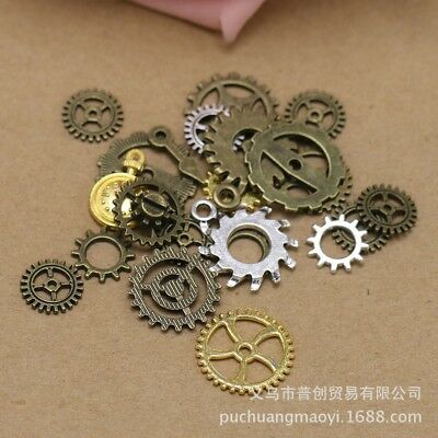 200g DIY Jewelry Making Mixed Vintage Popular Engrenages Steampunk Metal Gear