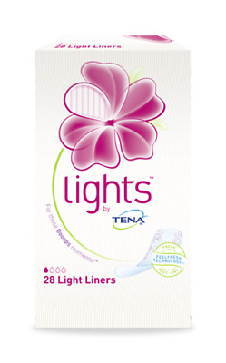 From £3.33 Tena Lady Lights Light Liner 28's & 24's Incontinence Pelvic Sanitary