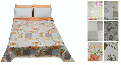 Copriletto trapuntino quilt matrimoniale shabby country 2018