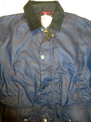 Barbour Alness 100% Wax Cotton Jacket NWT Medium $429 Navy Muted Plaid Pattern