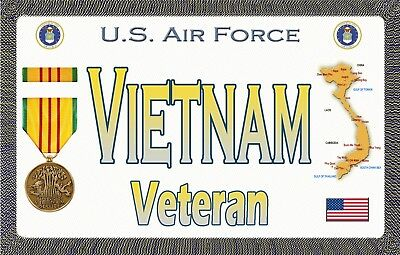 "Air Force - VN - Magnetic Sign - 6"" L X 3.75"" H - Outdoor"