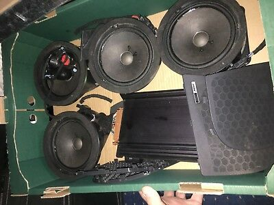 Audi A2 Bose Sound System Speakers Tweeters Amplifier Amp Subwoofer Grills