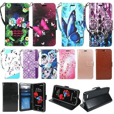 For LG Tribute Dynasty, Aristo 2, Zone 4, Rebel 3, Fortune 2, Wallet Case Cover