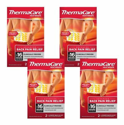 BEST VALUE ThermaCare Lower Back & Hip Body Heat Wrap Heat Therapy Muscle Pain