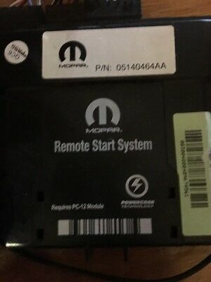 Mopar Complete Remote Start Module with wiring and Fobs 5140464 AA