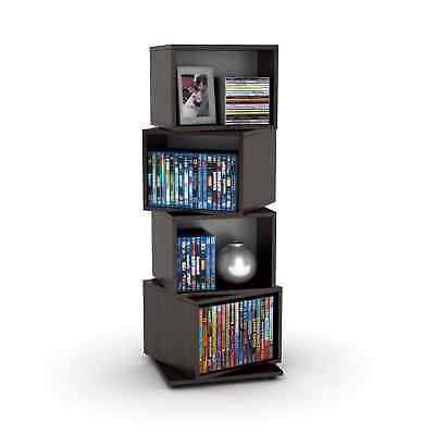 Rotating Media Tower CD DVD Storage Rack Organizer Shelf Cabinet Stand  Holder