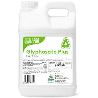 2 5 GALS GLYPHOSATE Concentrate Herbicide 41 Weed Grass Killer Non Selective