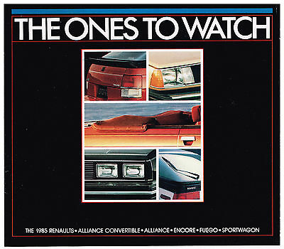 "Vintage 1985 RENAULT ""The Ones to Watch"" Brochure ALLIANCE Encore FUEGO More"