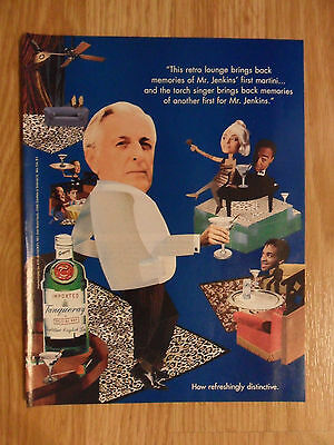1995 Print Ad Tanqueray Gin ~ Mr. Jenkins Torch Singer at the RETRO LOUNGE