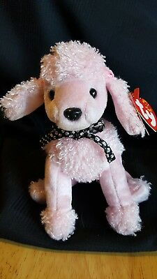 TY Beanie Baby - BRIGITTE the Pink Poodle Dog -  Pristine w/ Mint Tags - RETIRED