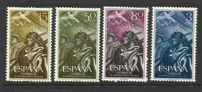 1956 Spain Civil War Anniversary SG: 1250-1253 - MLH cond.