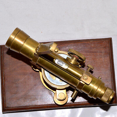 Nautical Alidade 7 Inche Telescope With Compass Brass Marine Collectible Gift