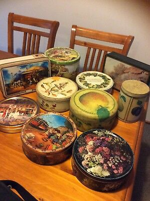 Bulk Vintage Collectable Buiscuit And Tea Tins Deceased Estate Clearance