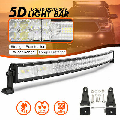 "52"" Inch 1560W LED 5D Curved Work Light Bar Combo Driving Offroad Lamp Car Truck"