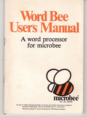 Word Bee User's Manual - for Microbee computer