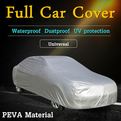100% Waterproof Full Car Cover Snow Dust Rain Protection Breathable PEVA L/XL