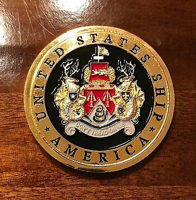 US NAVY - USS AMERICA CV-66 Challenge Coin (THE ORIGINAL) Only 65 Remaining