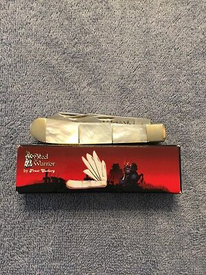 Steel Warrior 4-1/4Closed Pocket Knife 5-Blade Real mother of pearl Handle