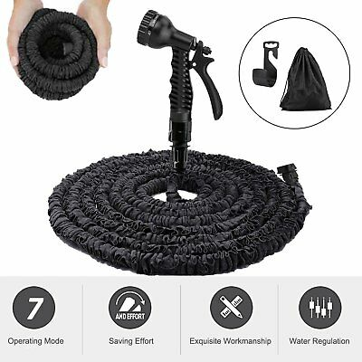 100 to 200ft Expandable Garden Watering Hose Pipe + Handheld Spray Nozzle Head