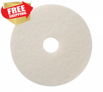 "Glit / Microtron 401217 Super Polishing Pad, 17"", White (Pack of 5)"