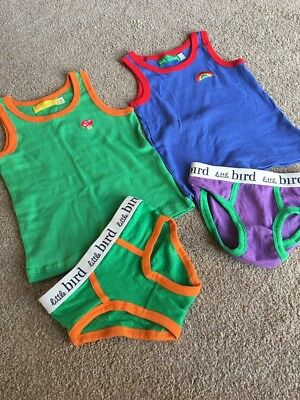 Little Bird By Jools Oliver Underwear Part Set Rainbow Toadstool Vest Pants