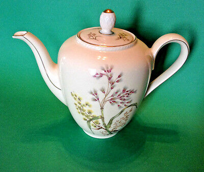 Winterling Bavaria Teapot - Creamy White With Embossed And Gilded Accents