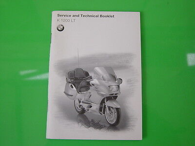 Genuine Bmw K1200Lt Service And Technical Booklet