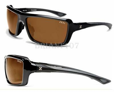 4dec00c8e39 New Sunglasses Zeal Optics All In 10029 Black Brown w Polarized Lens  90-