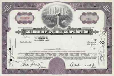 COLUMBIA Pictures 1965 Sony SPE TRI STAR Motion Coca Cola 1 Share Jack Cohn