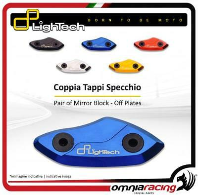 Lightech/Pair of Ergal Mirror Block Off Plates for DUCATI PANIGALE 1299 2015 15>
