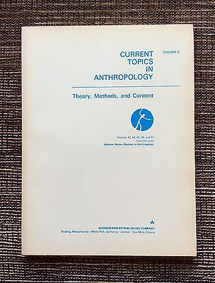 VERY RARE VINTAGE 1973 Volume 8 Current Topics in Anthropology: Theory & Methods