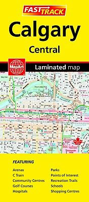 Calgary Central  Fast Track Laminated Map - 1034- MapArt Street Map