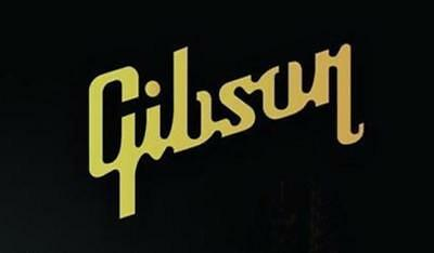 GIBSON Logo guitar Gold sticker vinyl headstock aufkleber Guitar Bass