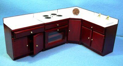 12th 4 Piece Fitted Kitchen Set , Mahogany Finish